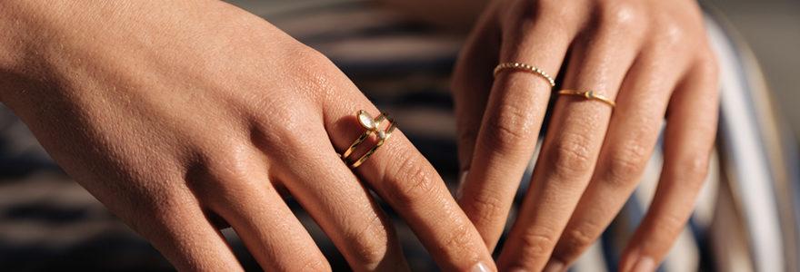 Bague selon la forme des doigts